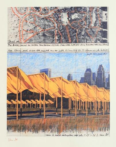 CHRISTO - Druckgrafik-Multiple - 'The Gates, project for Central Park New York City'