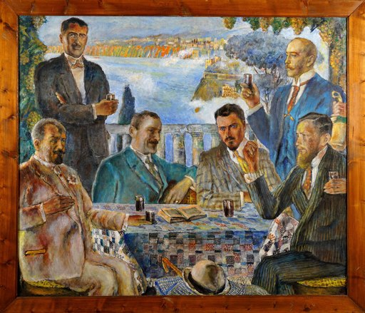 Wladyslav VON JAROCKI - Gemälde - Artists at the Table