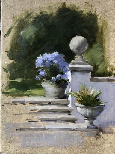 Nicky PHILIPPS - Gemälde - Nicky Philipps, Blue phox, oil on canvas, 41 x 30 cm, 16 x 1