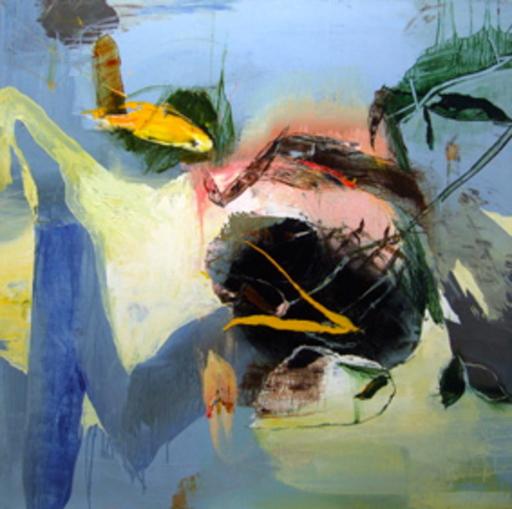 Moris GONTARD - Painting - Le foyer migrateur