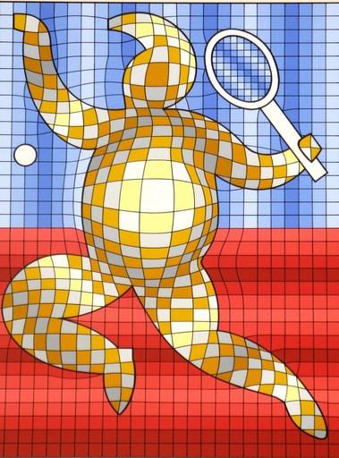 Victor VASARELY - Druckgrafik-Multiple - The Tennis Player