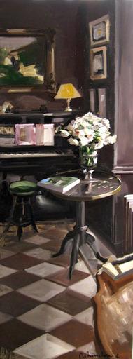 Christoff DEBUSSCHERE - Pintura - Le piano et le bouquet