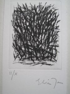 Elvire JAN - Grabado - LE PAIN DISCRET  1984