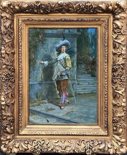 Richard Caton II WOODVILLE - Pintura - A Dandy Cavalier