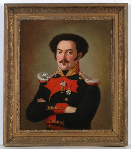 "Theodor MATTENHEIMER - 绘画 - ""Joseph Dichtel from Bavarian 6th Chevaux-Legers"""