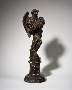 Aimé-Jules DALOU - Scultura Volume - Ange à l'enfant, esquisse du monument de la princesse Mary d