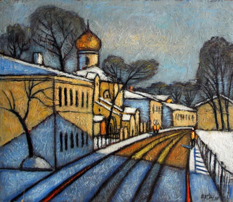 Valeriy NESTEROV - Pintura - Moscow. Turchaninov Lane