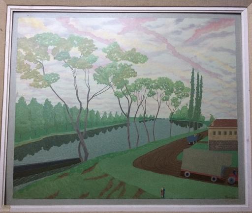 Louis Auguste DÉCHELETTE - Peinture - Près du Canal