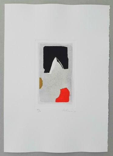 Giuseppe SANTOMASO - Print-Multiple - Composizione rosso/nero