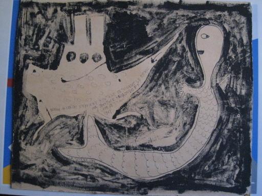 Jeantimir KCHAOUDOFF - Drawing-Watercolor - LA SIRENE 1961