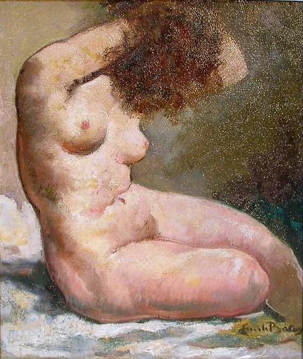 Emile BAES - Pintura - Nu féminin