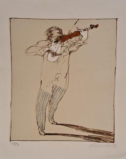 Claude WEISBUCH - Druckgrafik-Multiple - Petit violoniste