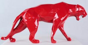 Richard ORLINSKI - Sculpture-Volume - WILD PANTHER RED