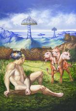 Carlos SABLÓN - Gemälde - La ferme des delices