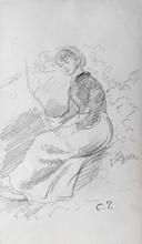 Camille PISSARRO (1830-1903) - Femme assise