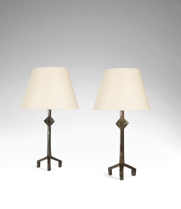 Alberto GIACOMETTI - Escultura - Paire de lampes trepieds
