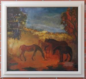 Alexandru MILAN FLORIAN - 绘画 - Horses on Pasha