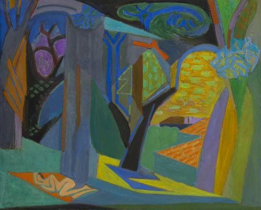 André LHOTE - Painting - Bain de soleil sous bois