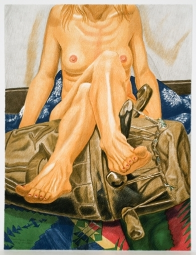 Philip PEARLSTEIN - Print-Multiple - Nude and African Drum