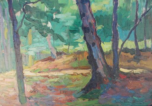 Emile LECOMTE - Pintura - Sous bois