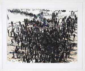 Philippe COGNÉE - Drawing-Watercolor - Sans titre (Foule 19I)