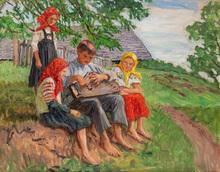 Nikolaj Petrovich BOGDANOV-BELSKY - Painting - Young Musicians