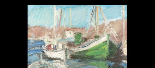 Pierre GOGOIS - Pintura - le port de Serifos