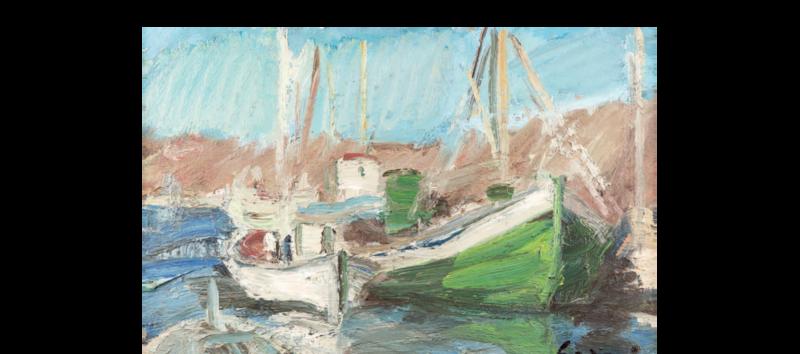 Pierre GOGOIS - Pittura - le port de Serifos