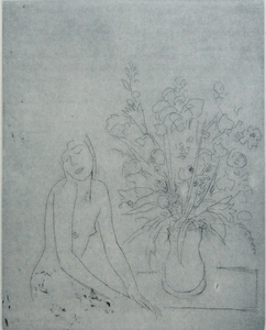 Jacob GILDOR - Print-Multiple - Nude by Vase of Flowers
