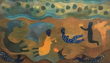 Manuel MENDIVE - Painting - El Rio