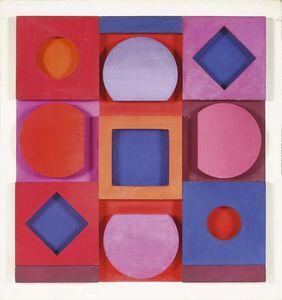 "Victor VASARELY - Sculpture-Volume - ""Granat"" négatif"