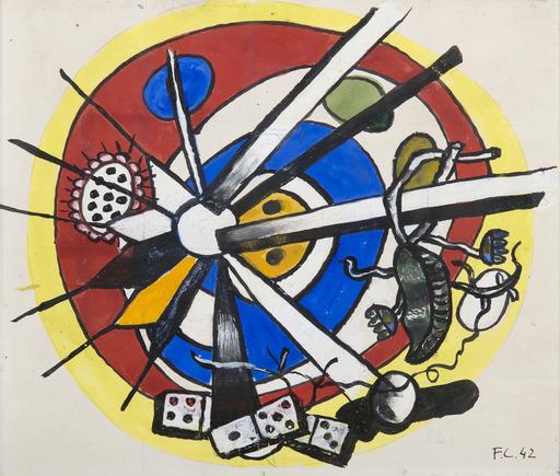 Fernand LÉGER - Dessin-Aquarelle - Composition circulaire
