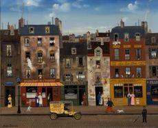 Michel DELACROIX - Painting - Le restaurant de L'Univers