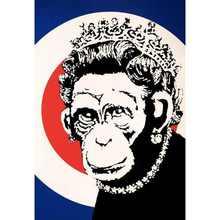 BANKSY (1974) - Monkey Queen Signed