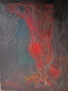 MARYAN - Painting - oiseau fantastique