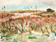 Willy EISENSCHITZ - Dibujo Acuarela - Languedoc