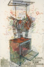 Dennis OPPENHEIM - Painting - Study for Second Generation