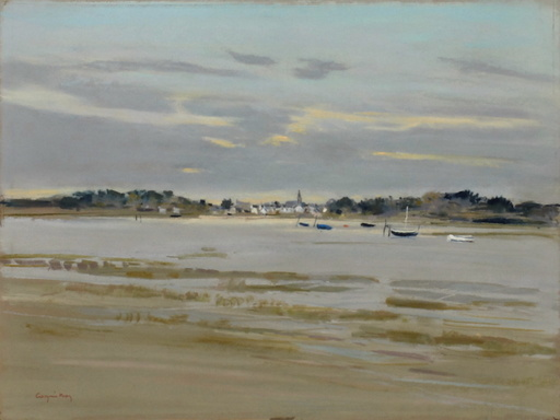Jacques COQUILLAY - Zeichnung Aquarell - Marée basse