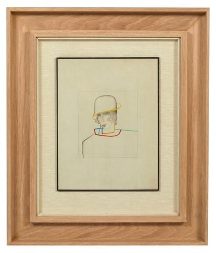 Joseph CSAKY - Dibujo Acuarela - Femme au chapeau