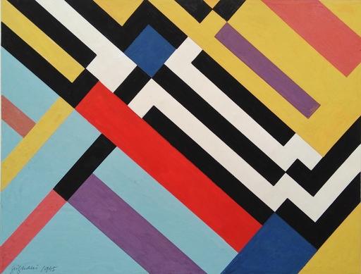Franco GRIGNANI - Dibujo Acuarela - Ritmi diagonali