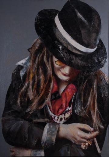 Lita CABELLUT - Pintura - Retrato de Janis Joplin
