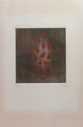Arthur Luiz PIZA - Estampe-Multiple - Eclat du rouge