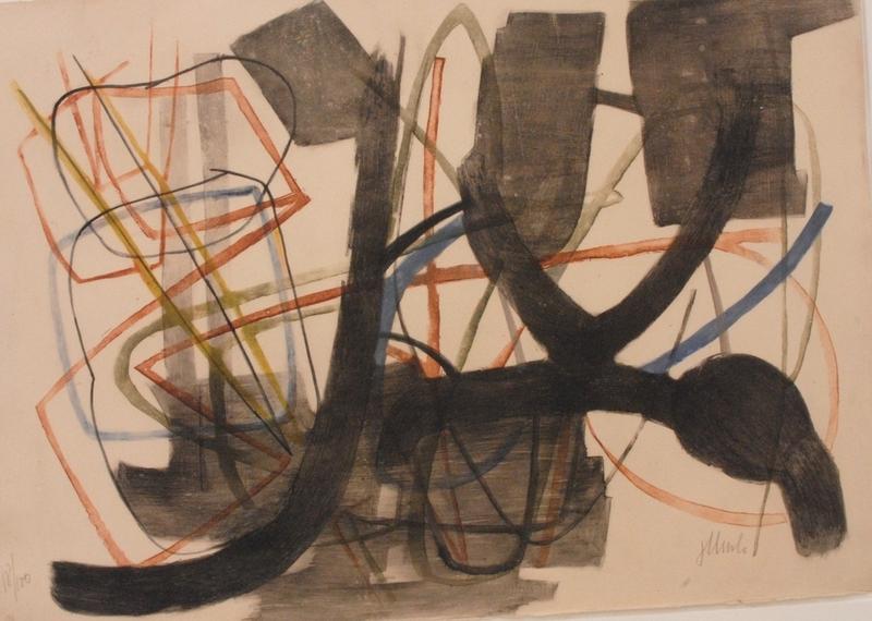 "Fritz WINTER - Druckgrafik-Multiple - ""Farbradierung IV"""