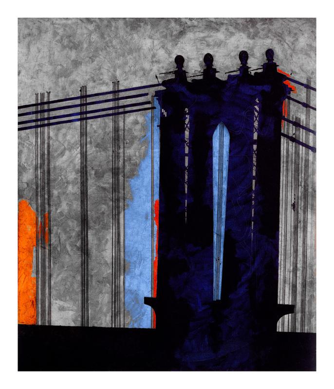 Jorge CASTILLO - Grabado - Bridge(,New York)