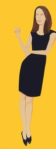 亚历克斯·卡茨 - 版画 - Black Dress - Christy
