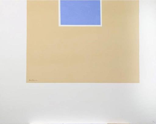 Robert MOTHERWELL - Print-Multiple - Untitled (Blue/Tan) from London Series II
