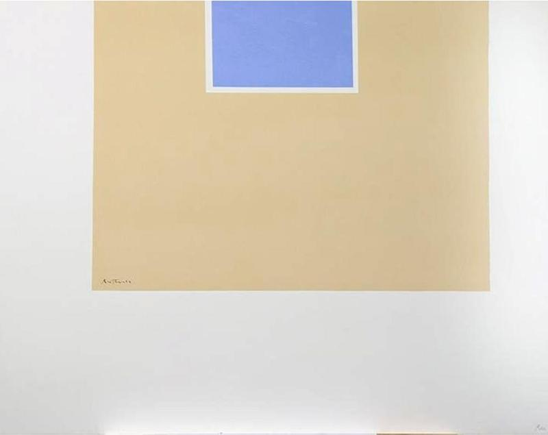 Robert MOTHERWELL - Print-Multiple - Untitled (Blue/Tan) from London Series II