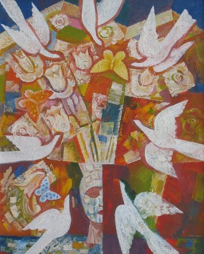 """Sergey BORISOV - Gemälde - Bouquet """"White Birds"""""""