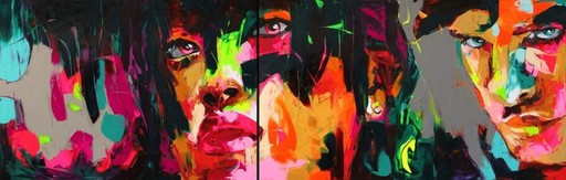 Françoise NIELLY - Painting - Untitled 567 (diptych)