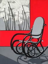 Brigitte THONHAUSER-MERK - Pintura - La chaise à bascule